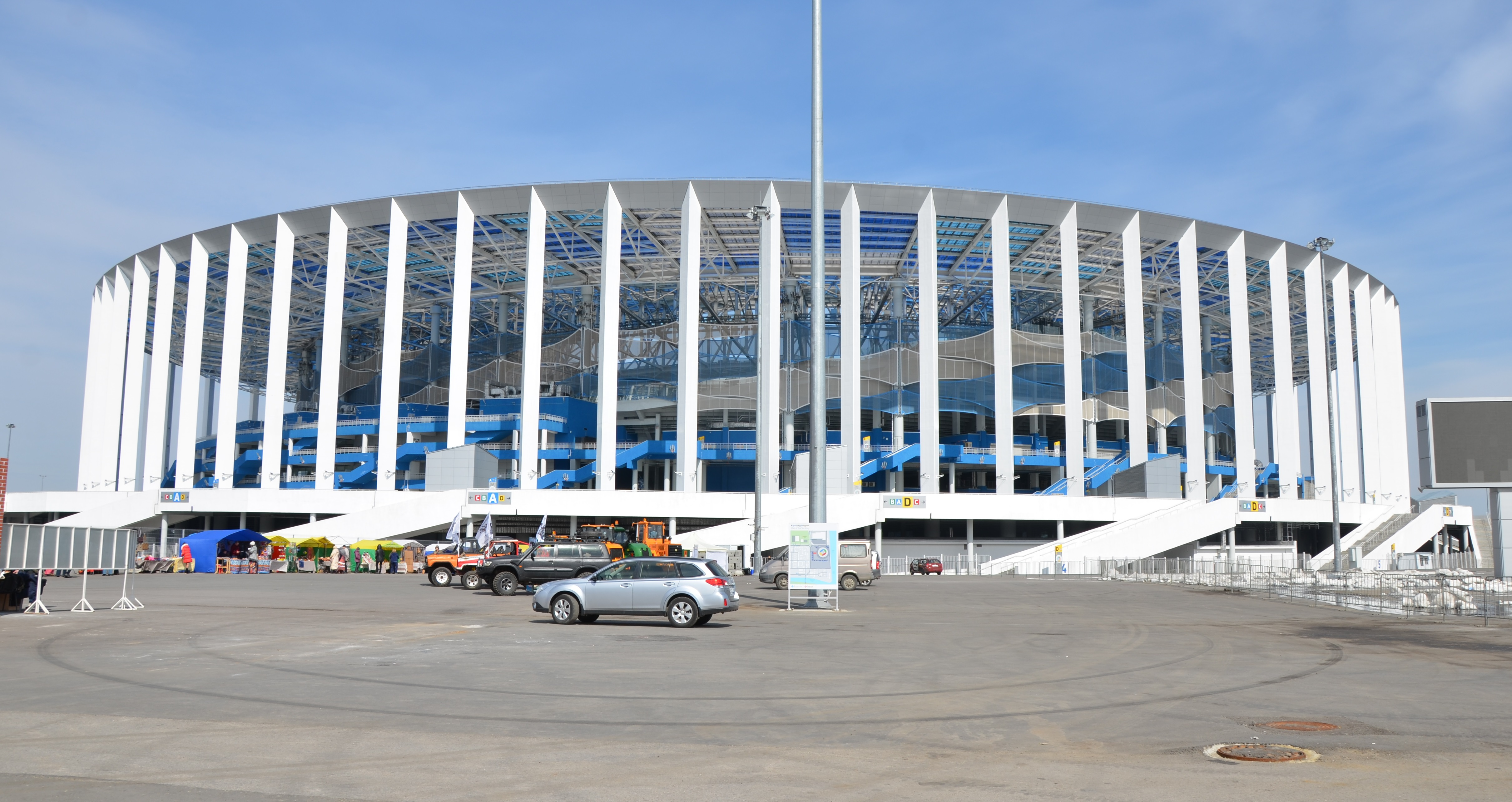 на стадионе Нижний Новгород