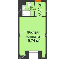 Студия 26,31 м², Апарт-Отель Гордеевка - планировка