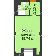 Апартаменты-студия 26,31 м², Апарт-Отель Гордеевка - планировка