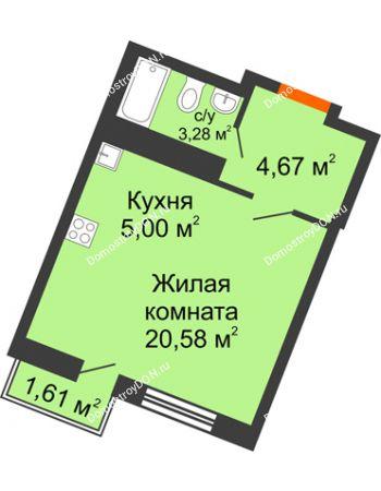 Студия 28,69 м² в ЖК Мечников, дом ул. Мечникова, 37
