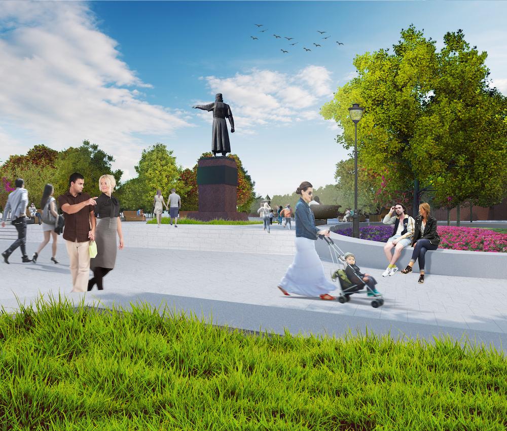 Проект благоустройства площади Минина и Пожарского в Нижнем Новгороде - фото 1