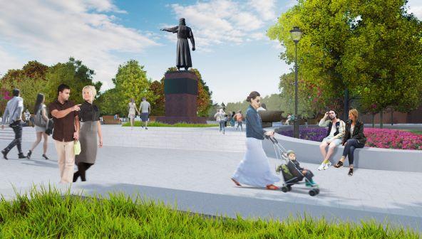 Проект благоустройства площади Минина и Пожарского в Нижнем Новгороде