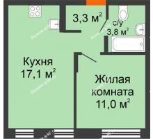 1 комнатная квартира 35,2 м² в ЖК Андерсен парк, дом ГП-1 - планировка