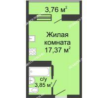 Студия 23,1 м² в ЖК Академический, дом № 10 - планировка