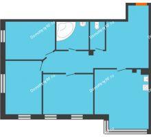 3 комнатная квартира 115,4 м², Клубный дом Green Вита (Грин Вита) - планировка