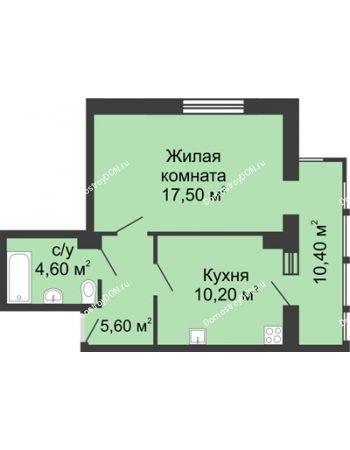 1 комнатная квартира 48,3 м² в ЖК Мега, дом № 2