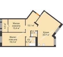 2 комнатная квартира 92,2 м² - ЖК Симфония Нижнего