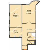 Студия 108,3 м², Жилой дом на ул. Платонова, 9,11 - планировка