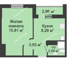 1 комнатная квартира 32,03 м² в ЖК Корабли, дом № 12