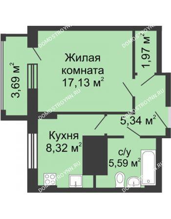 1 комнатная квартира 40,2 м² - ЖК Гелиос