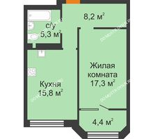 1 комнатная квартира 51 м² - ЖК Симфония Нижнего