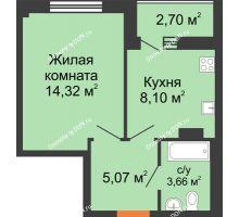 1 комнатная квартира 32,9 м², ЖК Дом на 14-й Линии - планировка