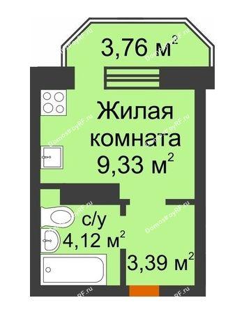 Студия 17,95 м² в ЖК Светлоград, дом Литер 16