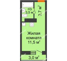 Студия 19,6 м² в ЖК Корабли, дом № 10 - планировка