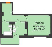 1 комнатная квартира 37,02 м² в ЖК Сокол Градъ, дом Литер 4 - планировка